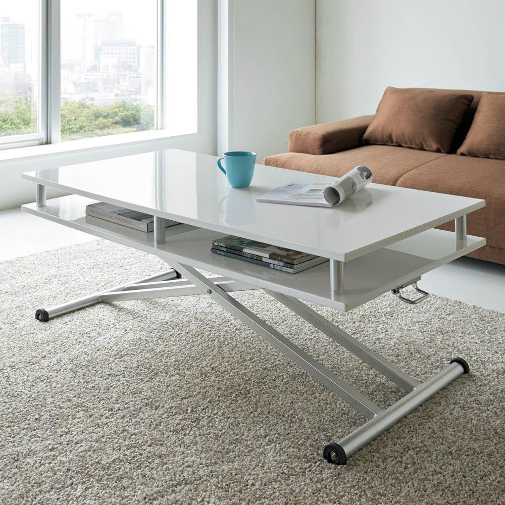 棚付き昇降式テーブル 幅120cm LR0213