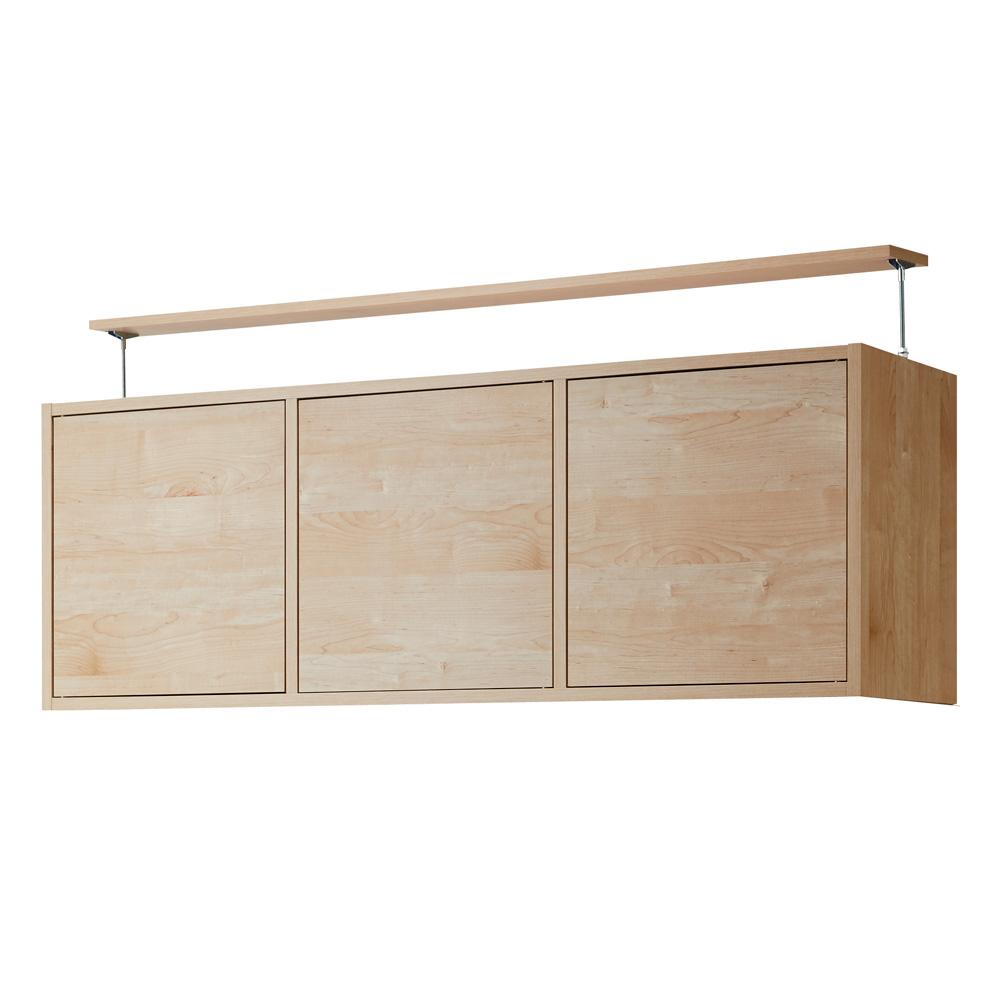 天然木調 飾る壁面収納 突っ張り上置き 幅143cm(上置き本体高さ50cm) LR7034