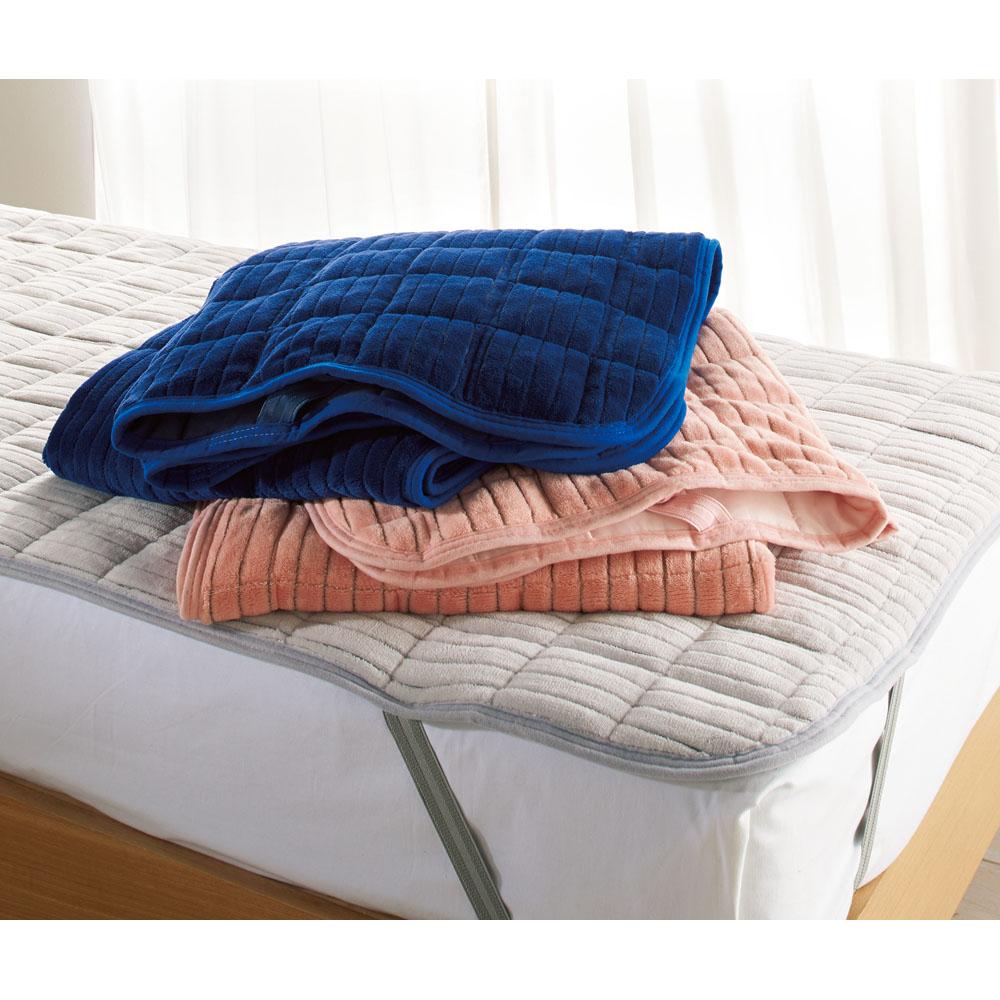 暖かさと肌へのやさしさを考えたFUWARMシリーズ ふんわり敷きパッド ファミリーサイズ約幅200cm 725621