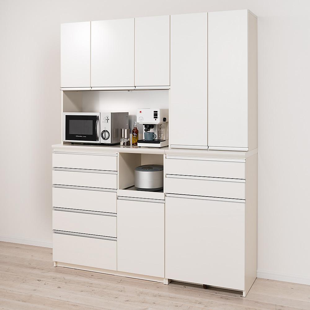 全国総量無料で 家具 収納 キッチン収納 食器棚 レンジ台 レンジラック キッチンラック 家電が使いやすいハイカウンター奥行50cm ダイニングボード高さ214cm幅100cm/パモウナCQL-1000R CQR-1000R LR0526, ホビーマンズ 578fd925