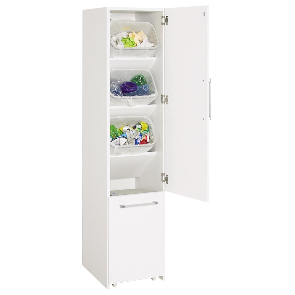 組立不要 キッチン分別タワーダストボックス 4分別 ゴミ箱タイプ LR0696