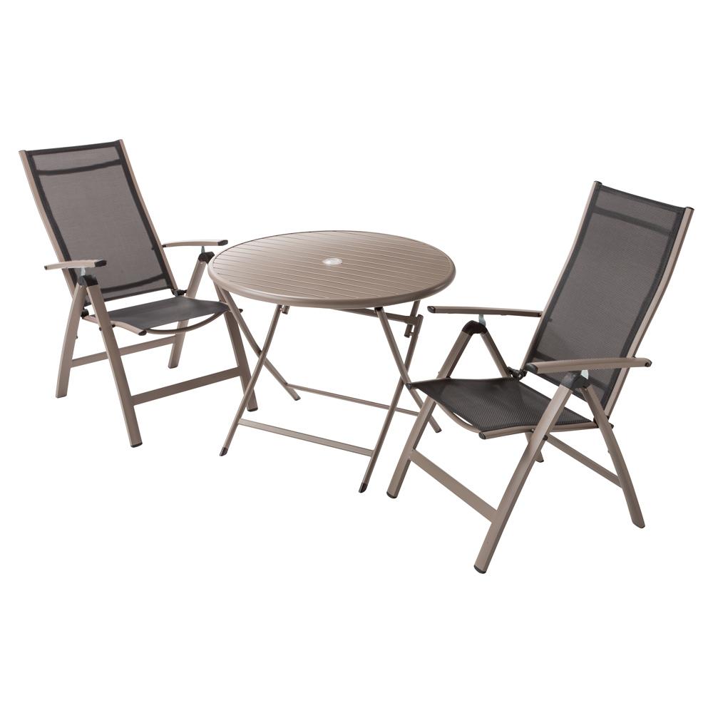 アーバンガーデン テーブル&チェア ラウンド 大 3点セット LR0711