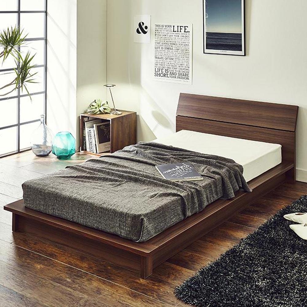 ベッド 寝具 布団 すのこベッド 5☆大好評 LR0802 ポケットコイルマットレス付き デザインローベッド細すのこ クイーン 新色追加
