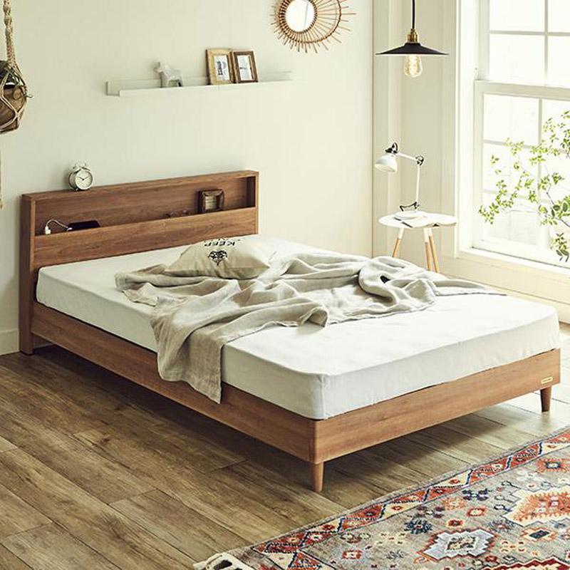 【セミダブル】フランスベッド LED照明コンセントマットレス付ベッド LR0843
