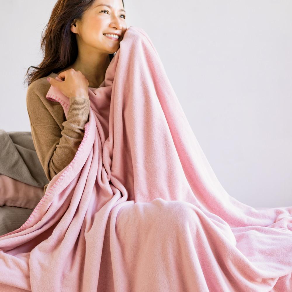 シングル(発熱するコットン「デオモイス」寝具シリーズ フランネルニットの2枚合わせ毛布) LR6012