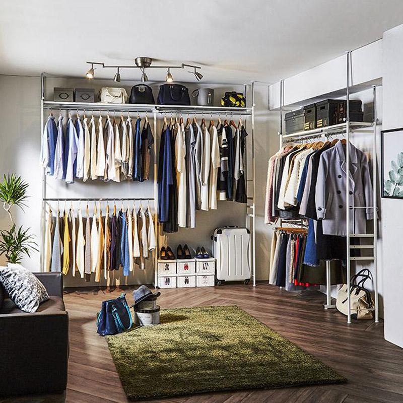 家具 収納 買い取り 衣類収納 特価キャンペーン ハンガーラック ロータイプ 奥行30cm突っ張りハンガー 幅111~200cm LR0922