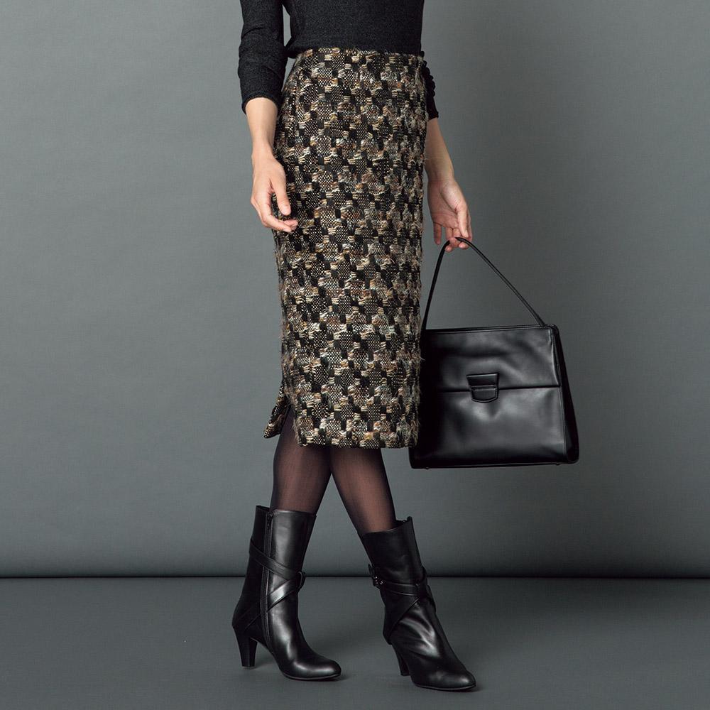 フランス素材 ファンシーツイード スカート A78102