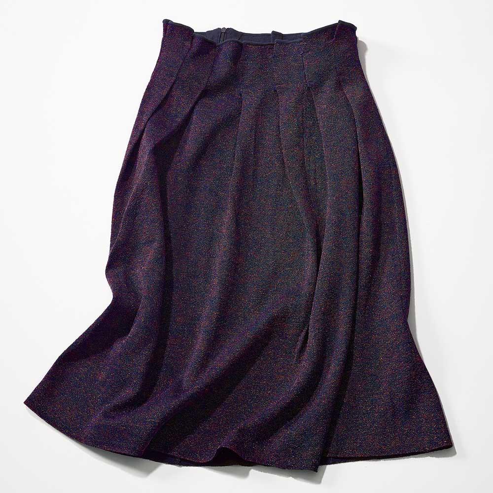カラーラメニット デザインスカート 263204