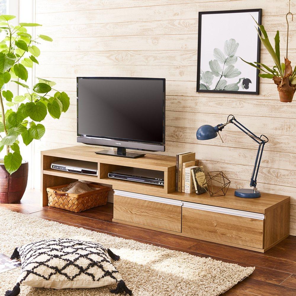 お部屋に合わせてぴったり 伸縮式オープンテレビ台(幅105cm~168cm) LR0386