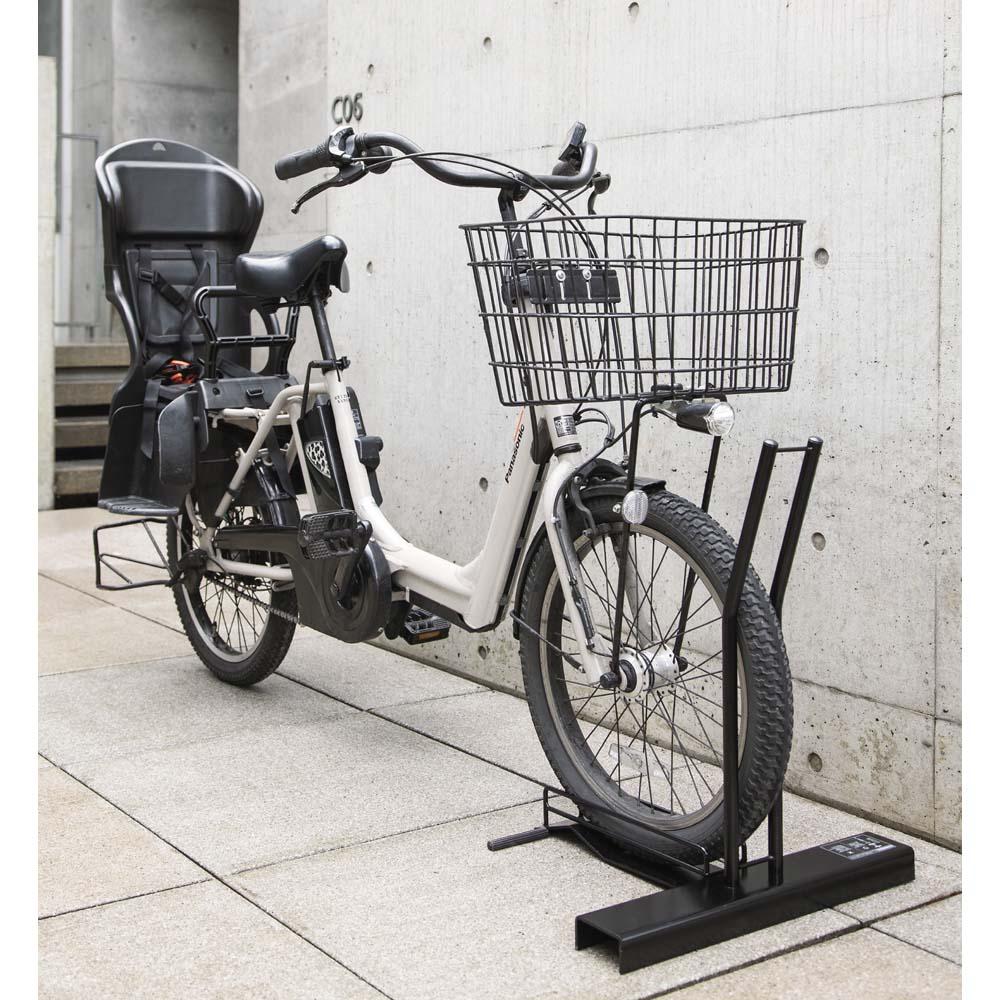 スロープ付き電動自転車スタンド 1台用(電動自転車専用カバー付き) 653422