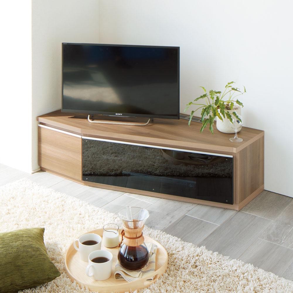 住宅事情を考えた天然木調コーナーテレビ台 左コーナー用 幅123.5cm 663311