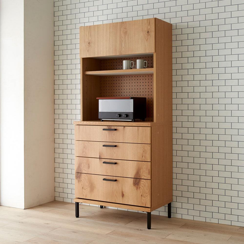 Bonno/ボノ キッチンボード・食器棚 幅80cm H58205