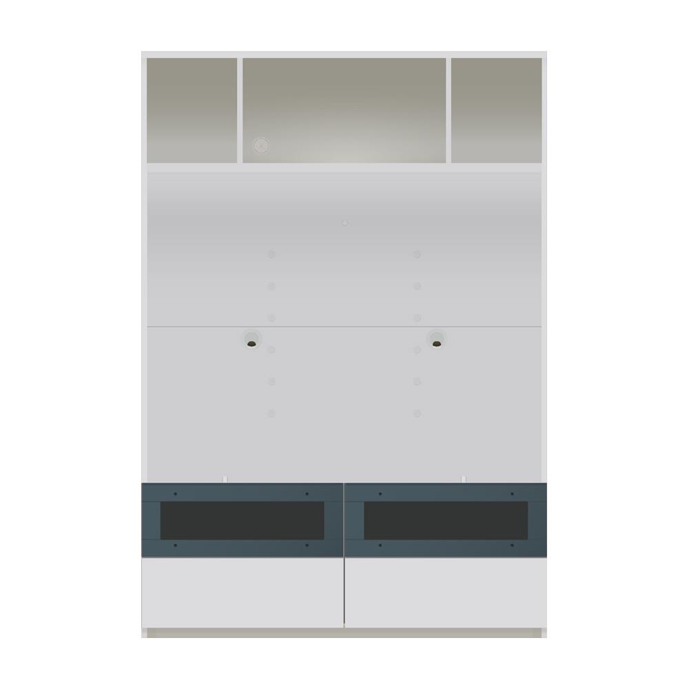 毎日の使いやすさを考えた収納システム テレビ台オープンタイプ 幅120cm 711438