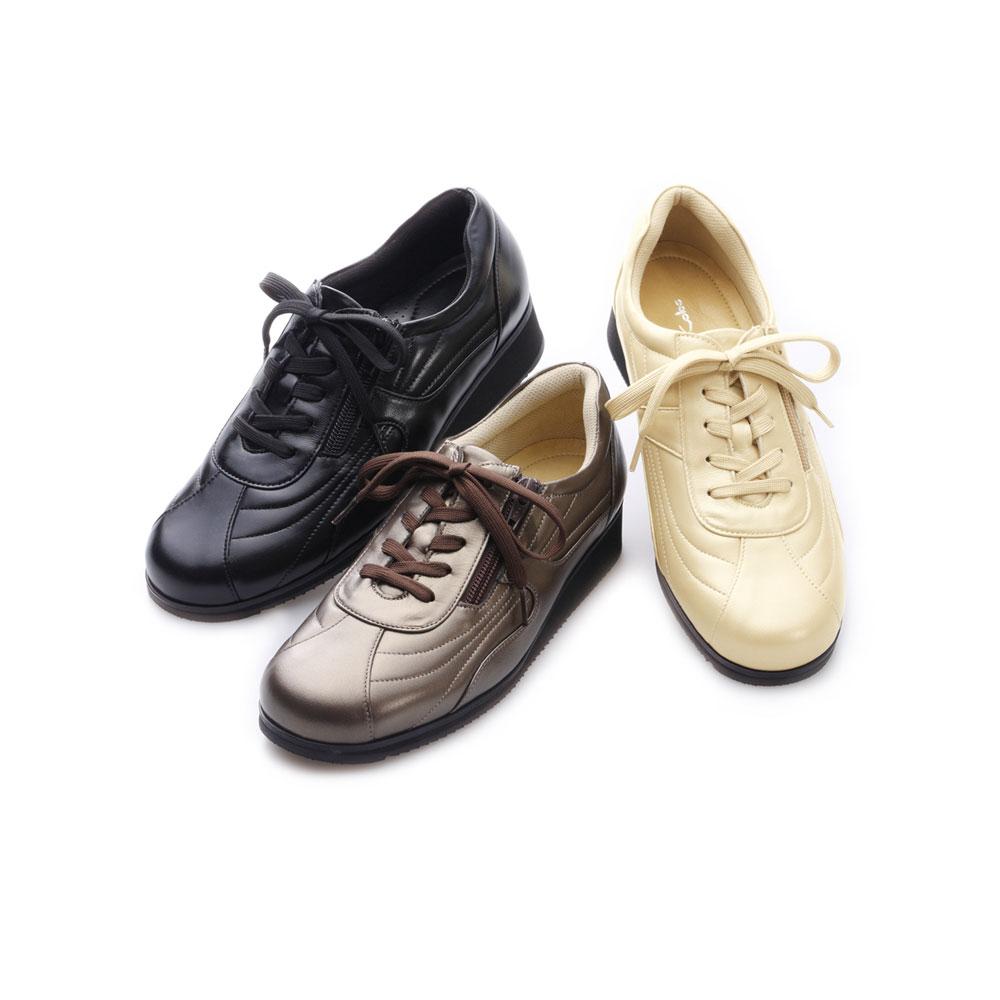 神戸シューズ 時見の靴/ウォーキングシューズ ウエッジソール NV5218