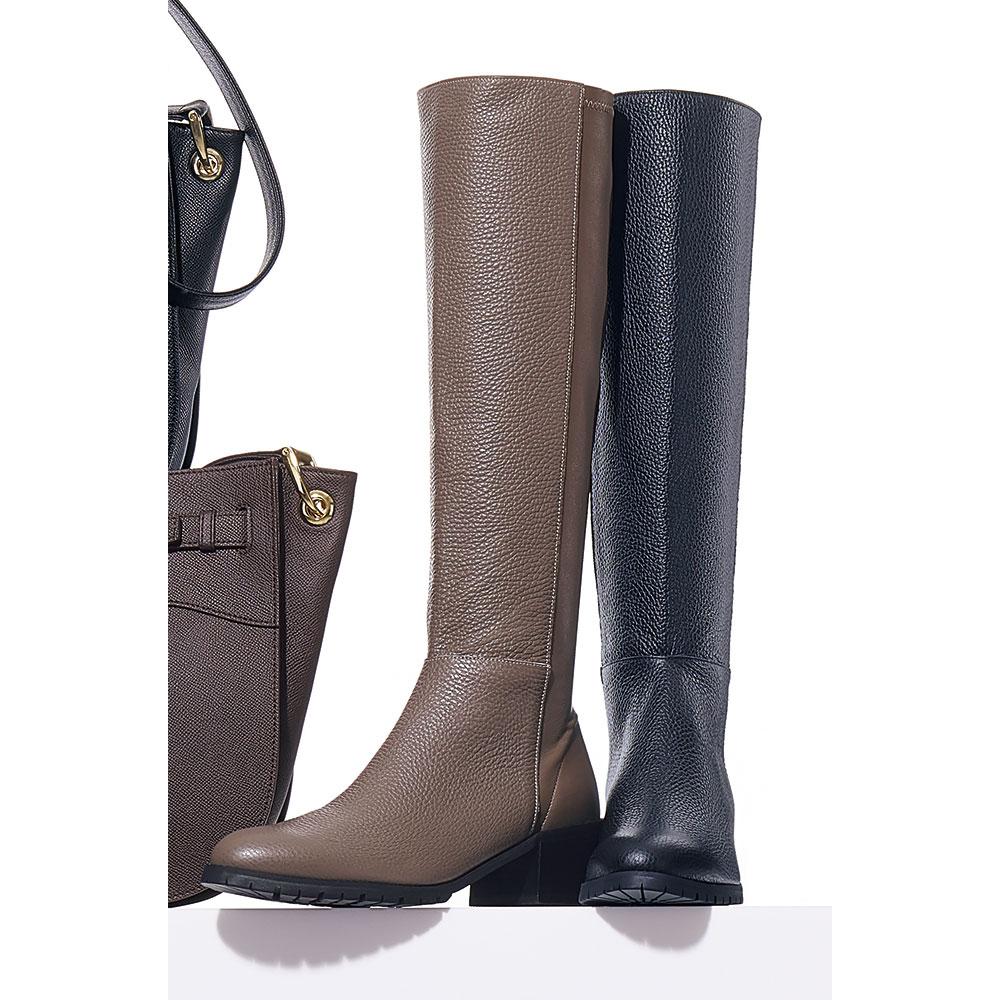 バッグ 激安通販ショッピング 靴 アクセサリー ハイクオリティ ブーツ ロングブーツ 269404 ミドルブーツ ストレッチ使い イタリアンレザーブーツ