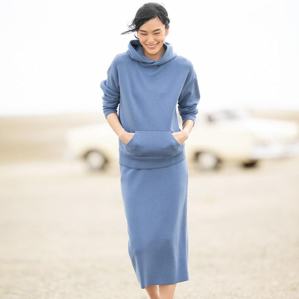 ※パーカとスカートそれぞれのサイズをお選びください 開催中 例 パーカ…M スカート…Lの場合 M L を選択 セットアップ ラメライン入り パーカ 139504 お求めやすく価格改定 スカート ニット