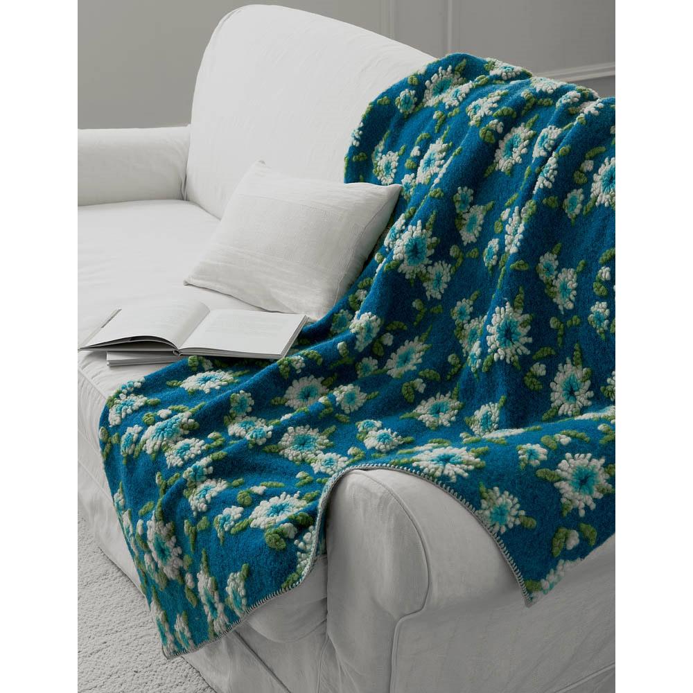 ブルー系の地に映える白く可憐なエーデルワイスの花模様がモコモコと立体的に表現された1枚 5☆好評 エーデルワイスマルチカバー GF1228 直営ストア 150×200cm