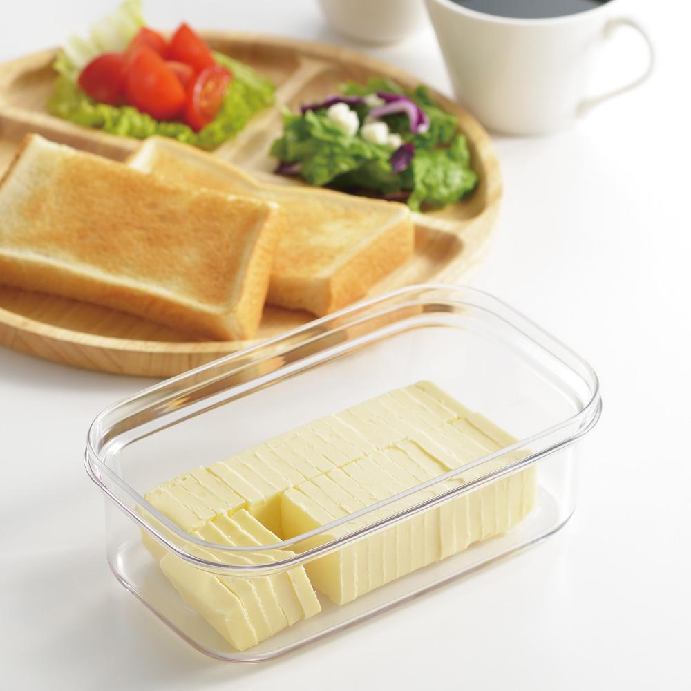 薄切りにカットできて そのまま保管できる便利なバターケース キッチン 家電 キッチン用品 プレミアムカットできちゃうバターケース WW1262 新作 保存容器類 高級品 キッチングッズ