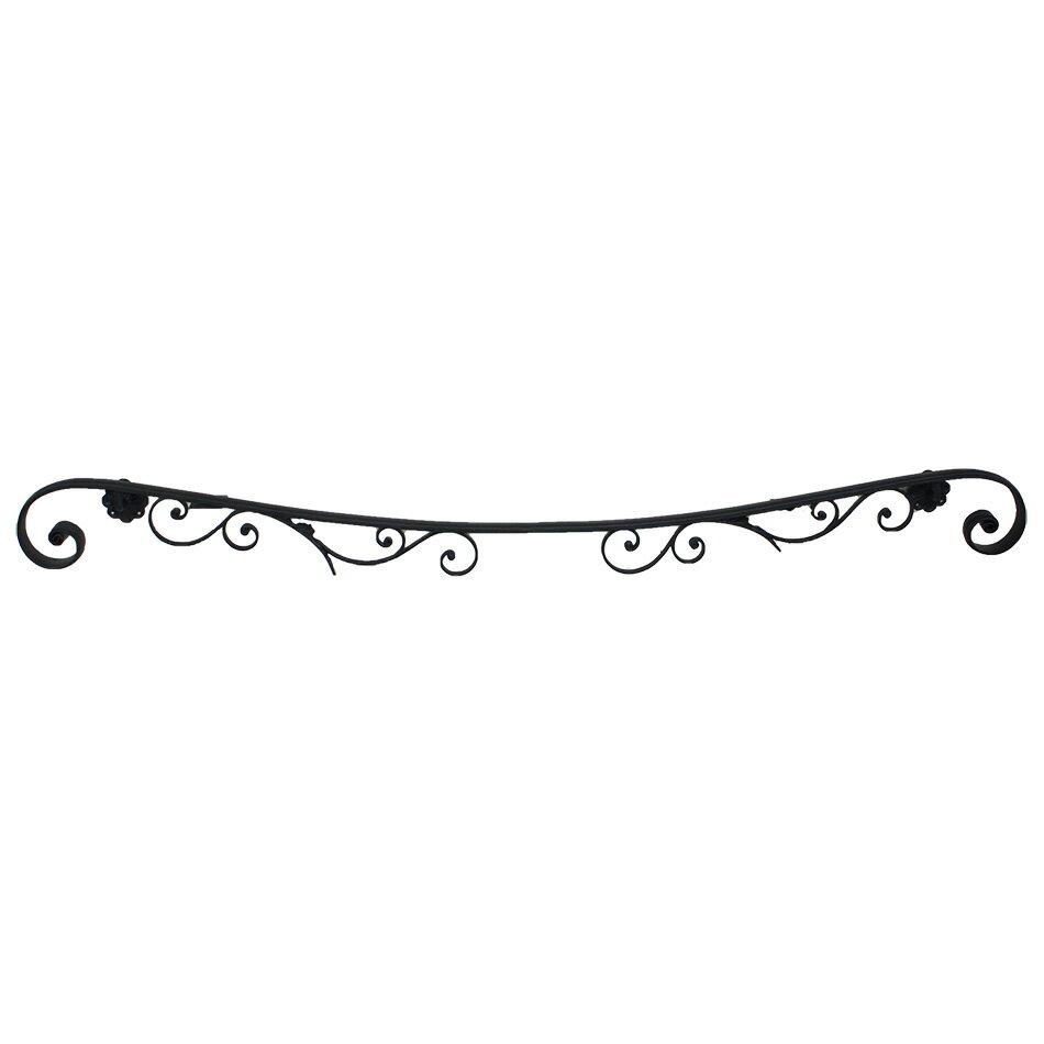 ロートアイアン製 壁付け手摺り/湾曲タイプ L=2000