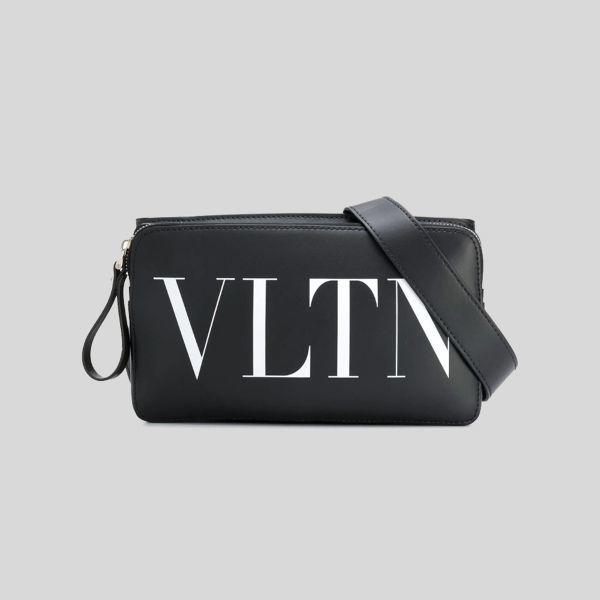 Valentino ヴァレンティノ レザー VLTN ベルト バッグ Leather VLTN Belt Bag black