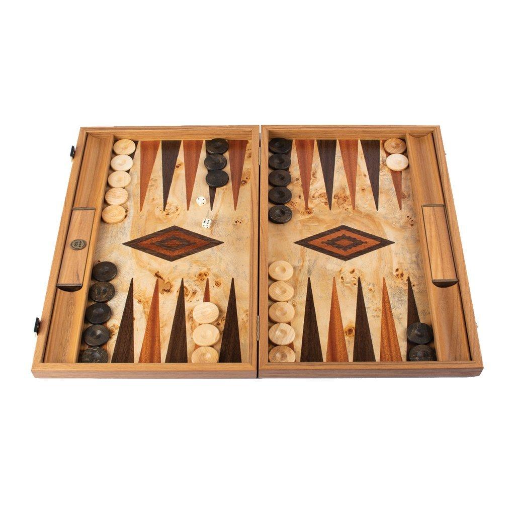 Manopoulos マノプロス ルポ バール バックギャモン ミディアム LUPO BURL Backgammon Large