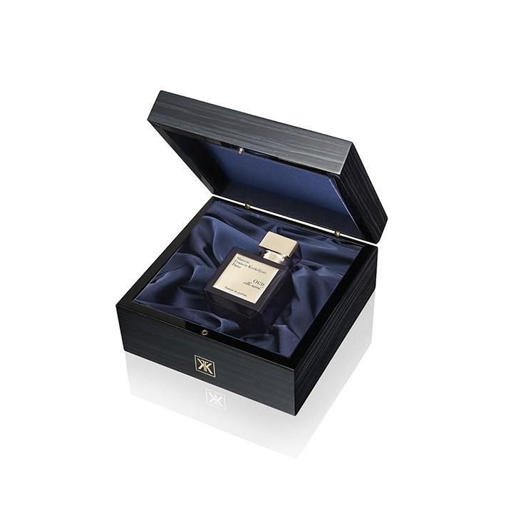 Maison Francis Kurkdjian メゾン フランシス クルジャン ウード シルク ムード エクストラ デ パルファム ラグジュアリー ウーデン ギフト セット OUD silk mood Extrait de parfum Luxury wooden gift set 70ml