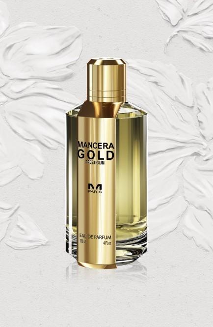 洗練された輝きのある女性と男性へ香りはフローラルスウィートです Mancera マンセラ ゴールド プレスティジウム 120ml 価格 Gold 訳あり商品 Prestigium EDP