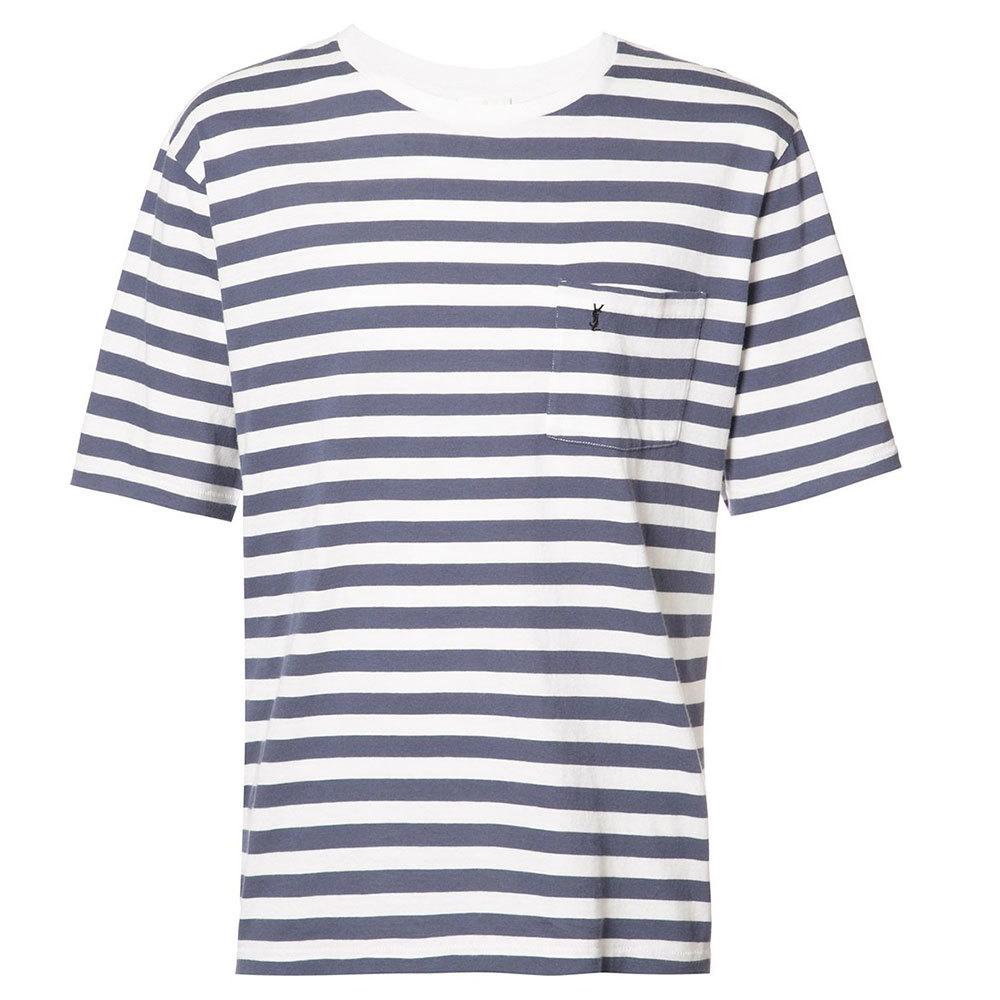Saint Laurent サンローラン メンズ ストライプ Tシャツ ブルー Striped T-shirt Blue