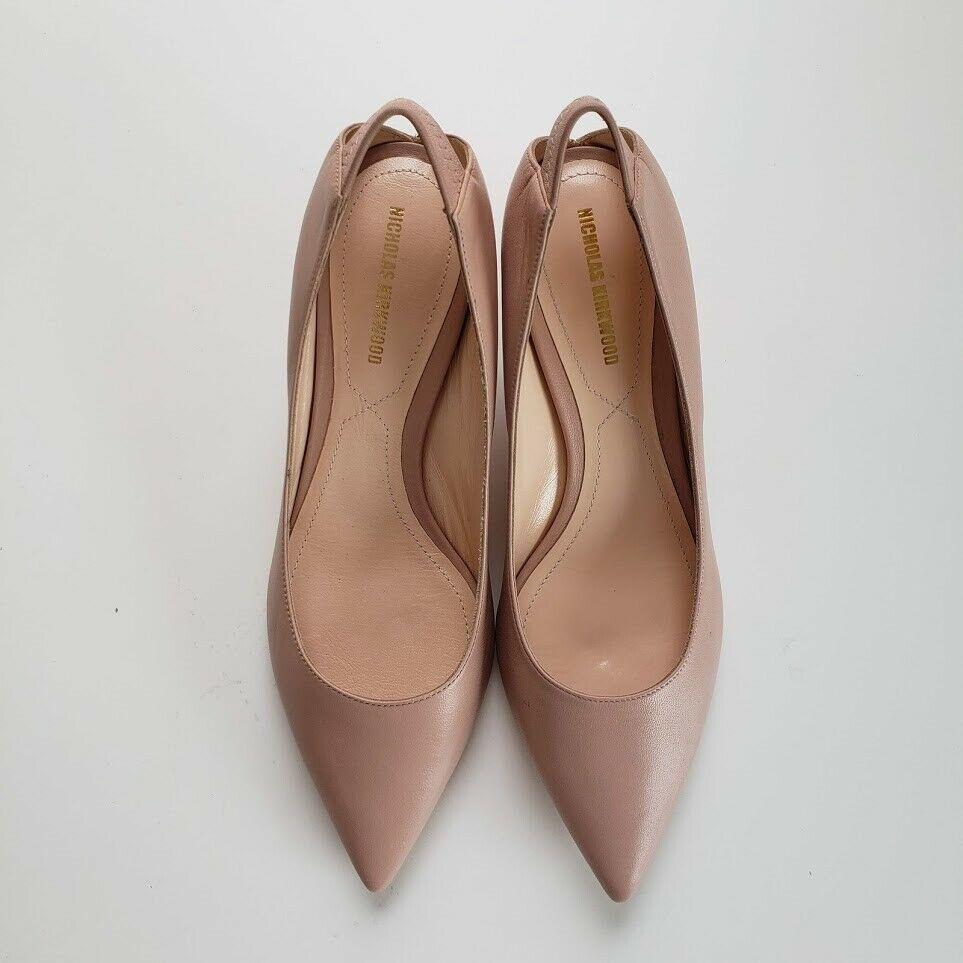 NICHOLAS KIRKWOOD ニコラスカークウッド ヴェロニカ レザーパンプス ブラッシュピンク Veronika Leather Pumps Blush Pink