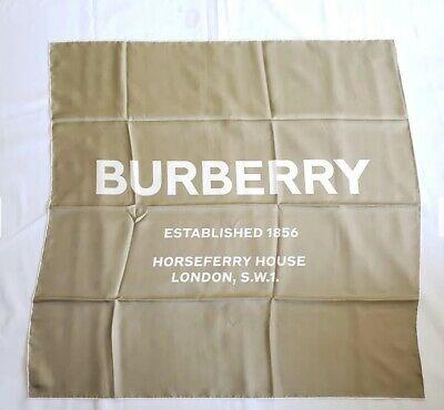 Burberry バーバリー スクエア シルク ショール-カーキ Square Silk Shawl-Khaki