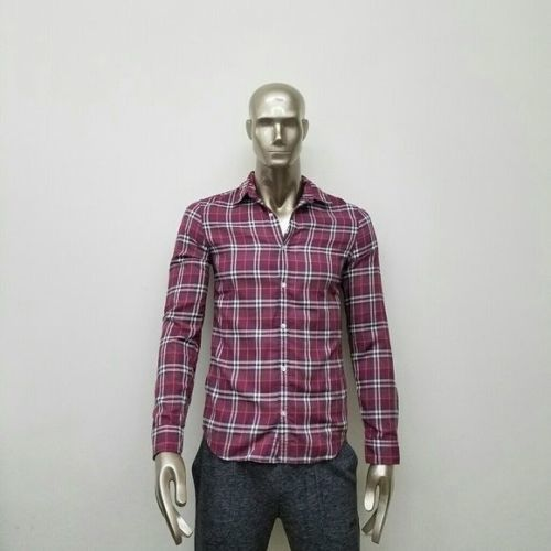 Burberry バーバリー ブリット ボタンダウン ダーク ポメグラネイト チェック コットンシャツ Brit Button Down Dark Pomegranate Check Cotton Shirt | XL | NWT
