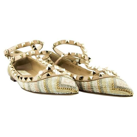 Valentino ヴァレンティノ ロックスタッズ バレリーナシューズ マルチカラー Rockstud Ballerina Shoes - Multicolor