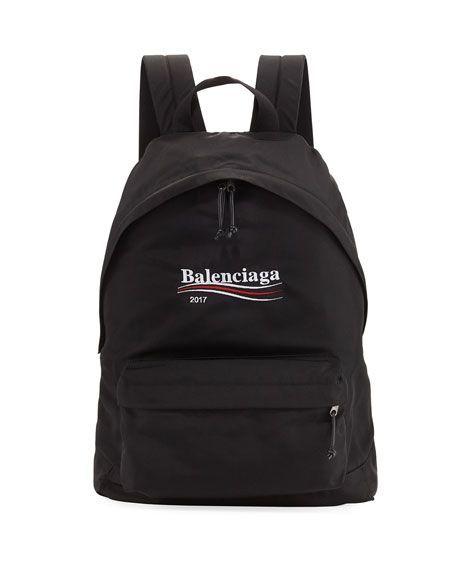 Balenciaga バレンシアガ ポリティカル ナイロン スポーツバックパック ブラック Political Nylon Sport Backpack Black