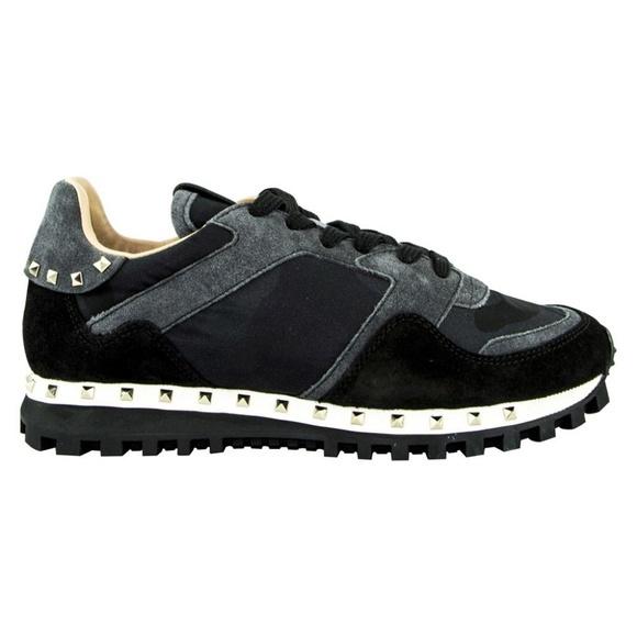 Valentino ヴァレンティノ スニーカー カモフラージュ ブラック/グレー Sneaker Camouflage - Black/Grey