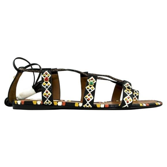 Valentino ヴァレンティノ エスニック レザー サンダル - マルチカラー Ethnic Leather Sandal - Multicolor