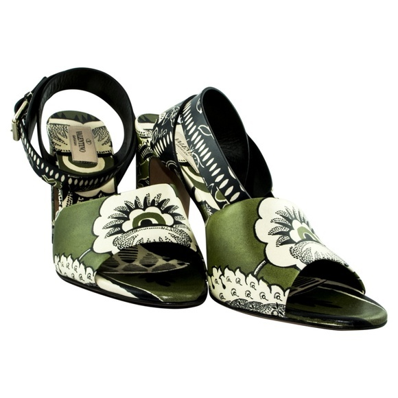Valentino Garavani ヴァレンティノ ガラヴァーニ レザー ヒール サンダル グリーン Leather Heels Sandal - Green