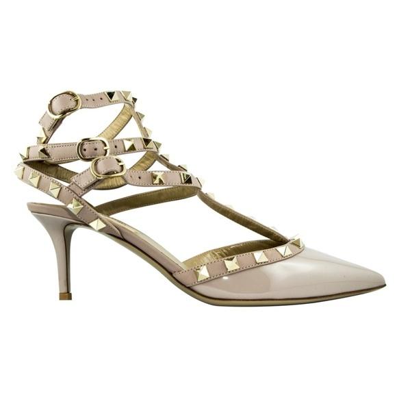 Valentino Garavani ヴァレンティノ ガラヴァーニ レザー ヒール シューズ ベージュ Leather Heels Shoes - Beige