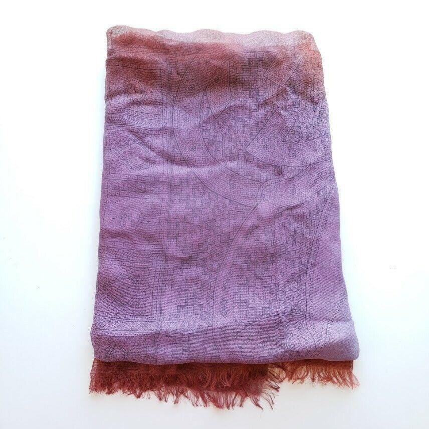 【中古】Gucci グッチ シルク オーバーサイズ ショール ラップ ニュー パープル Silk Oversize Shawl Wrap | New | Purple
