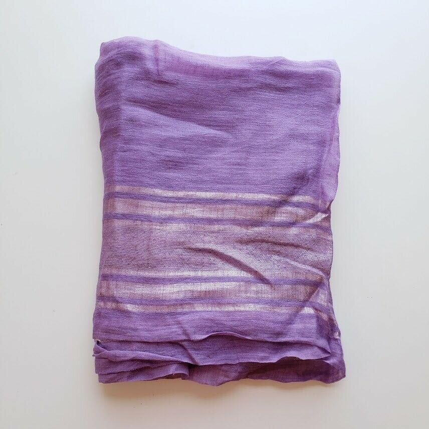 【中古】Gucci グッチ リネン モノグラム オーバーサイズ ショール ラップ ニュー パープル Linen Monogram Oversize Shawl Wrap | New | Purple | 75x210cm