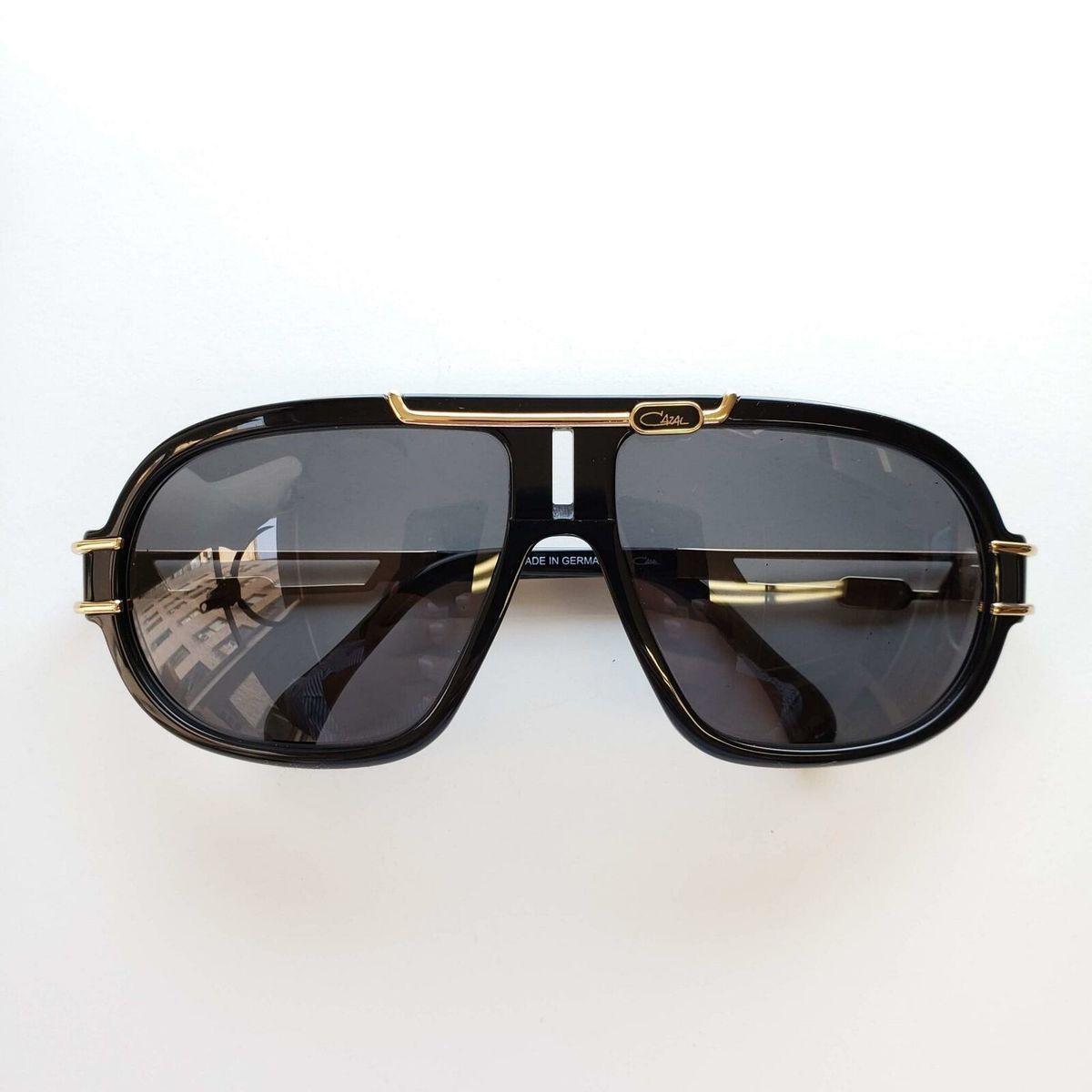 Cazal カザール メン ズオーバーサイズ サングラス Sunglasses 8018 001 Gradient Lens 64mm Gold/Black