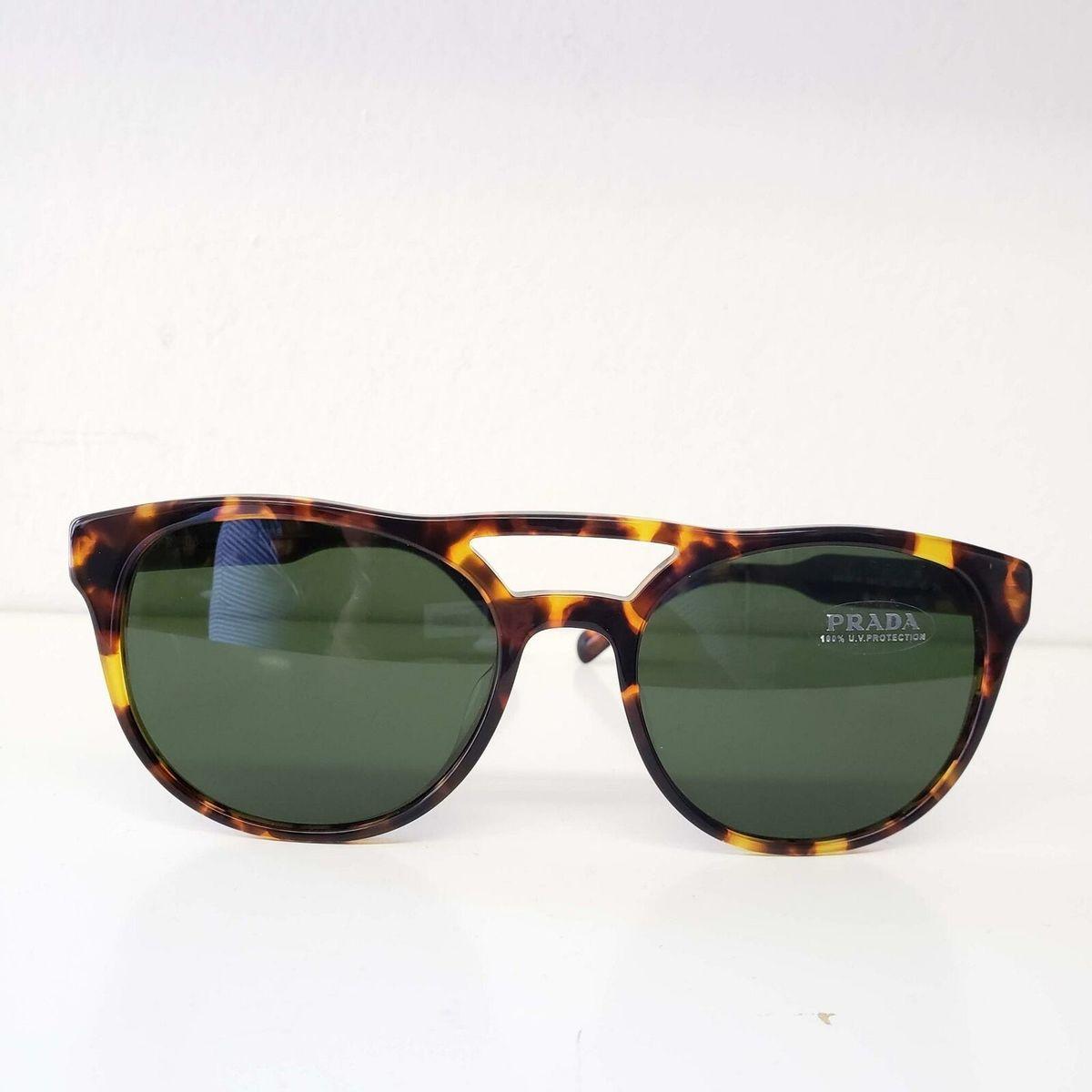 Prada プラダ メンズ トートイズフレーム サングラス ブラウンPR 13TSF VAU1|0 -54 Men's Havana Frame Sunglasses Brown