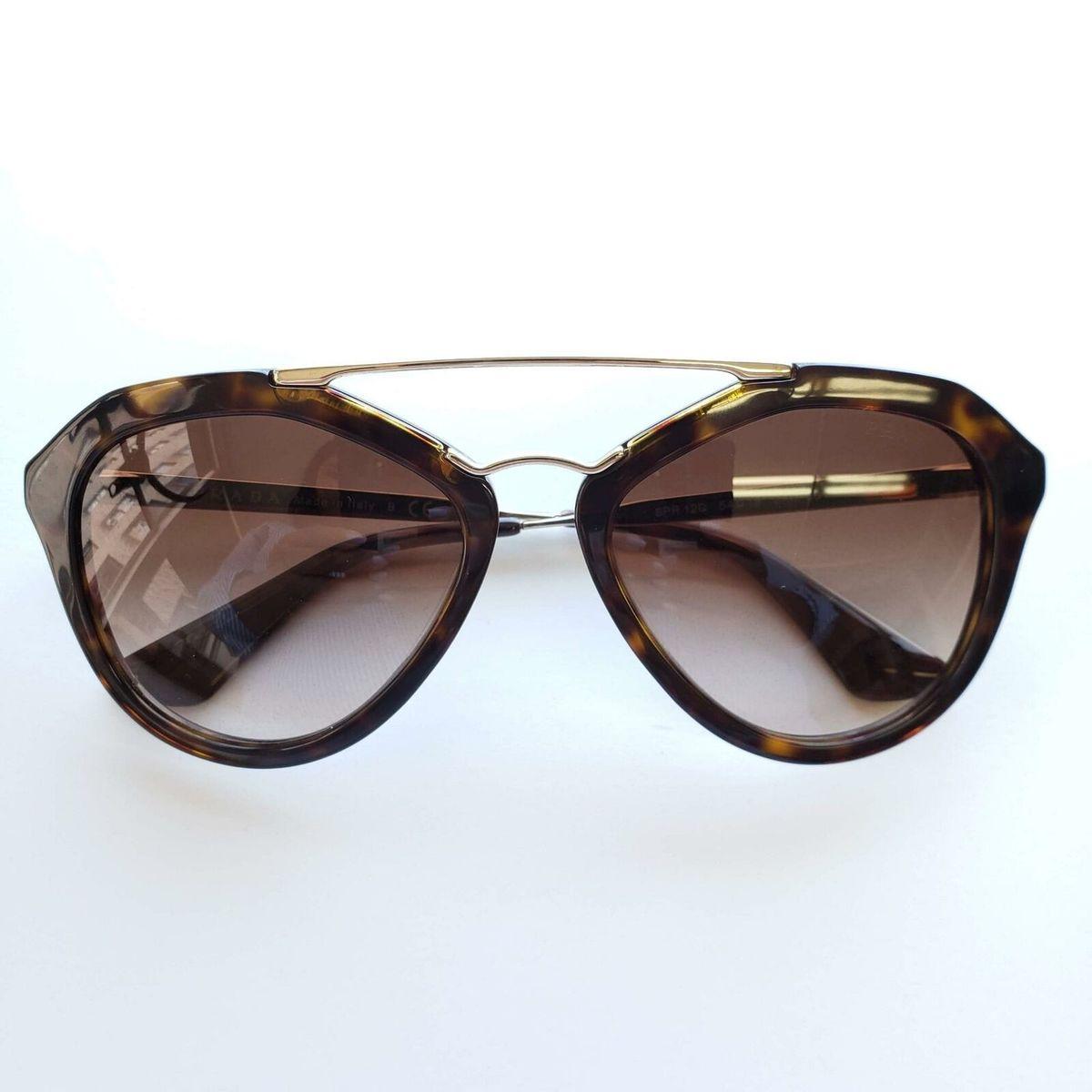 Prada プラダ レディース トートイズフレーム サングラス ブラウンSPR 12Q 2AU-6S1 Women's Havana Frame Sunglasses | Brown