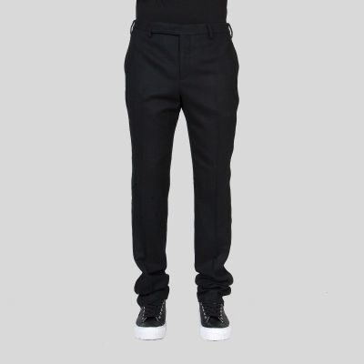 Staint Lauren サン ローラン ストレート レッグ ブラック トラウザーズ Straight Leg Black Trousers
