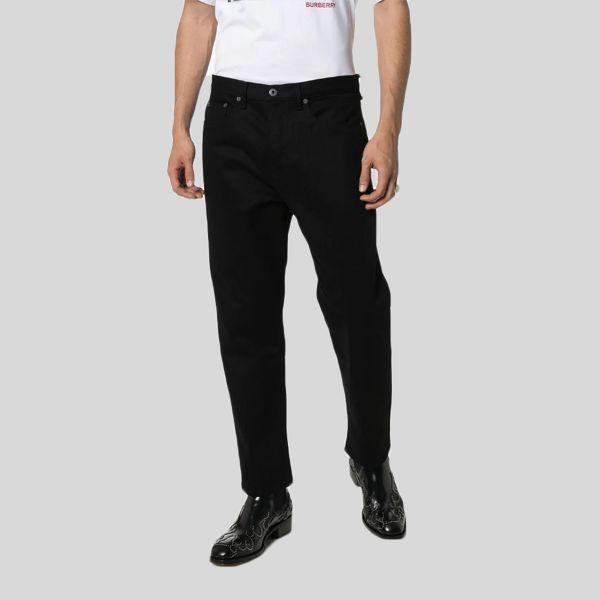 Valentino ヴァレンティノ 2099 ロゴ プリント スリム ジーンズ ブラック 2099 Logo Print Slim Jeans black