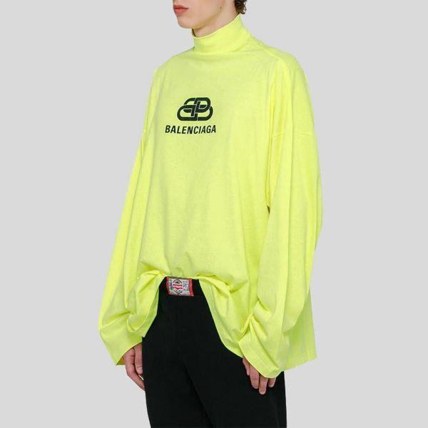 Balenciaga バレンシアガ ライム オーバーサイズ タートルネックトップ Lime Oversized Turtleneck Top