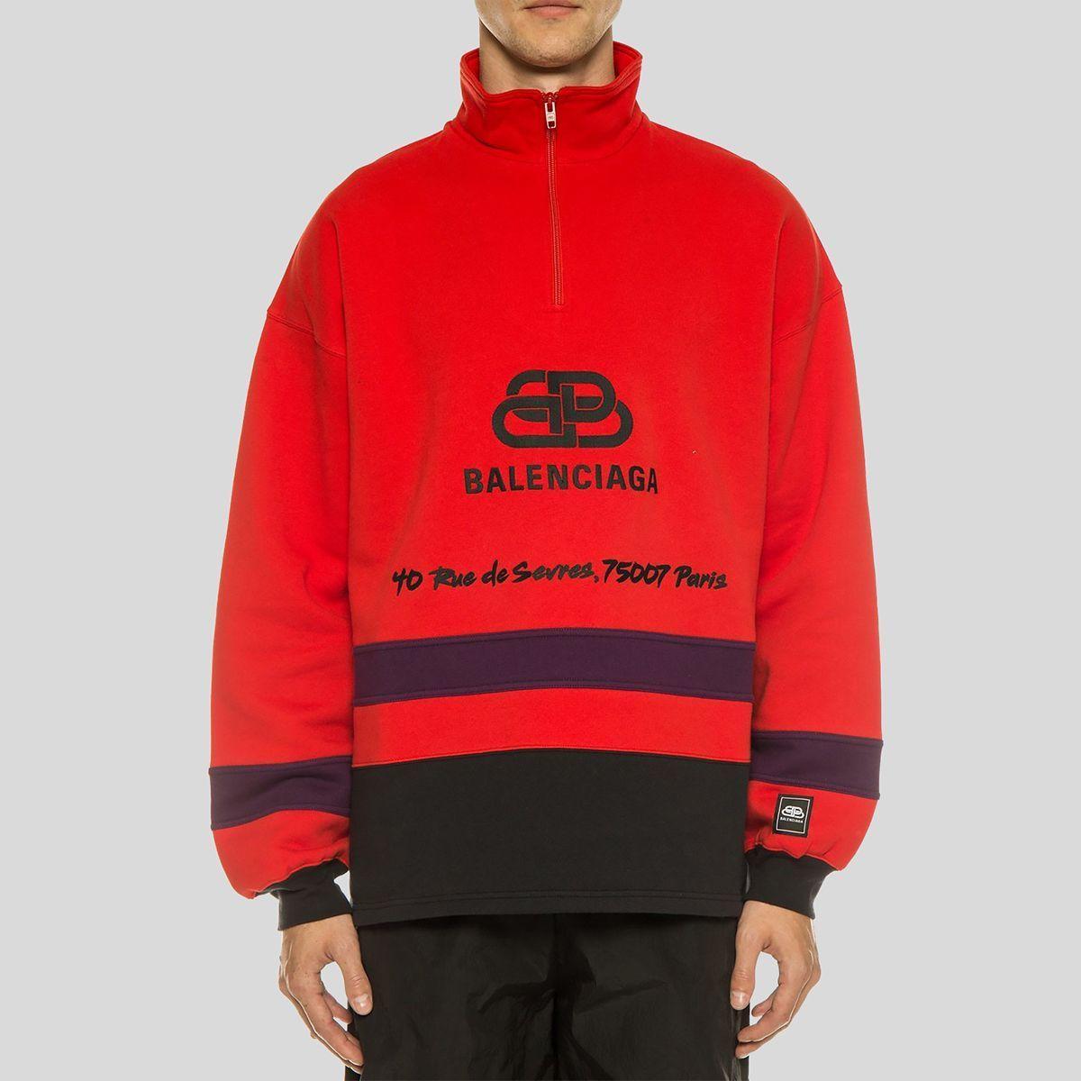 Balenciaga バレンシアガ レッドスキーセーター ウィズ ロゴRed Ski Sweater With Logo