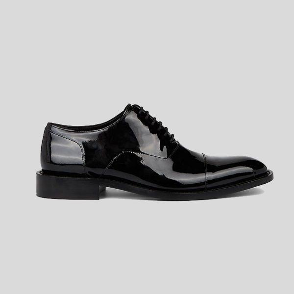 Balenciaga バレンシアガ グロッシー ブラック レザーシューズ Glossy Black Leather Shoes