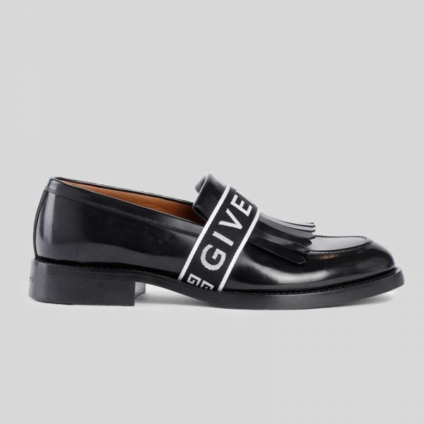 Givenchy ジバンシー フリンジ ペニー ローファー Black Fringed Penny Loafers