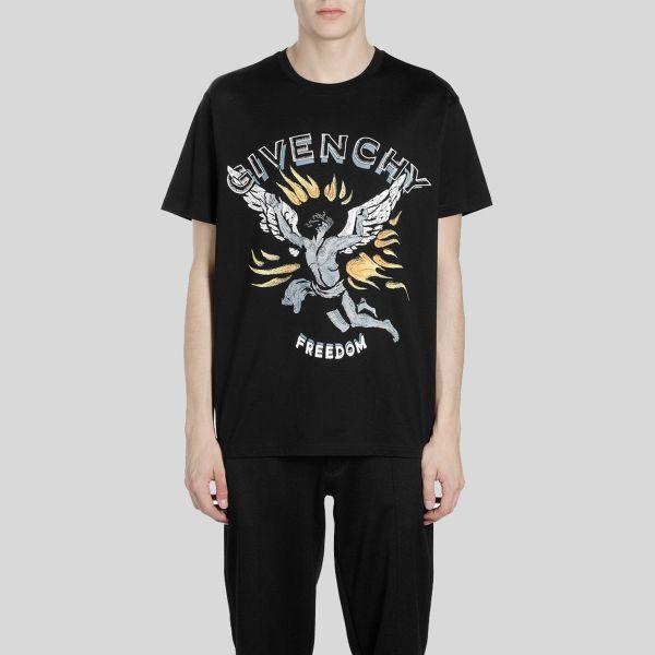 Givenchy ジバンシー イカロス プリント ティー Icarus Print Tee - black