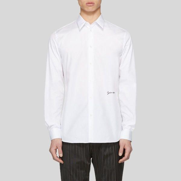 Givenchy ジバンシー Givenchy ホワイト コットン シグネイチャー ショーツ White Cotton Signature Shirt